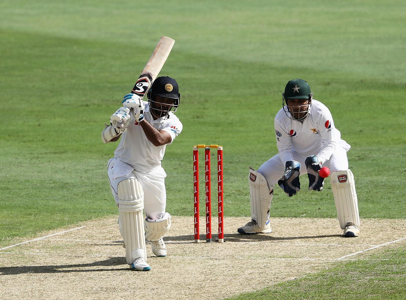Karunaratne on his way to a career-best 196, against Pakistan in Dubai in October last year