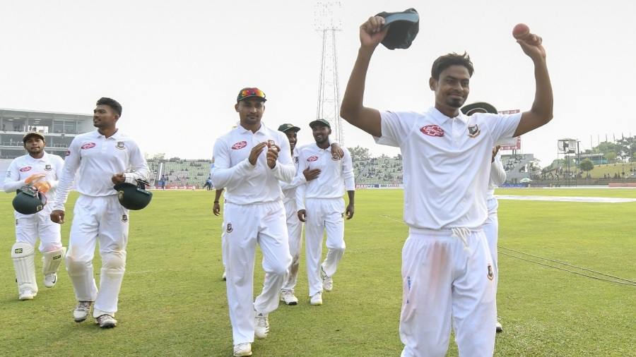Taijul Islam finished with 11 wickets in the match