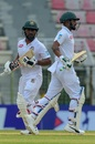 Liton Das and Imrul Kayes put on a half-century stand for the opening wicket, Bangladesh v Zimbabwe, 1st Test, Sylhet, 4th day, November 6, 2018