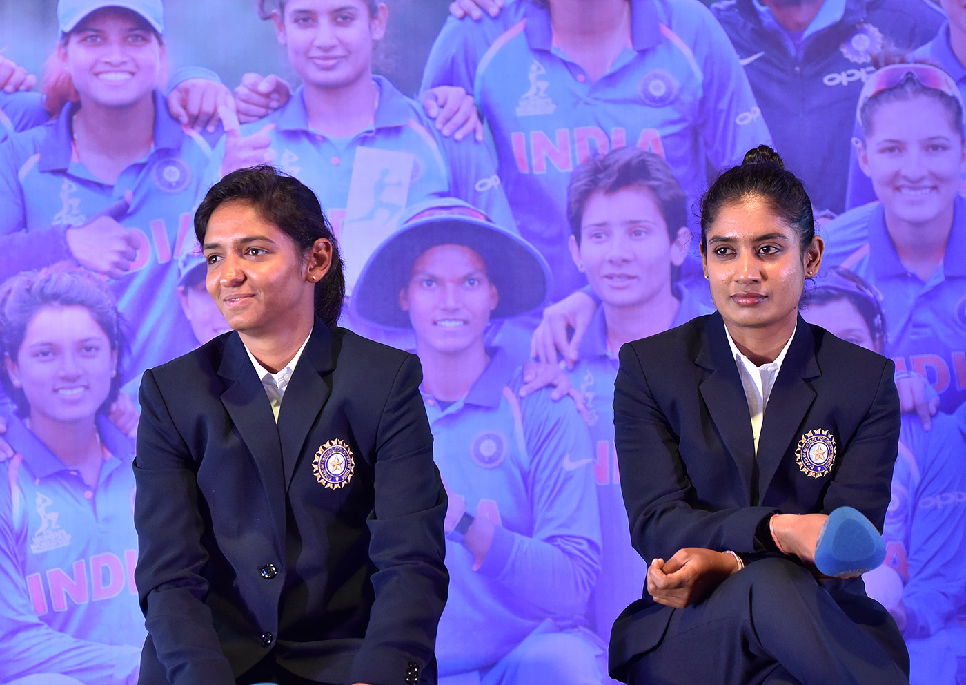 With predecessor Raj. 'Until my late teens, I had no idea if India had a women's team, let alone [knowing about] Jhulu <i>di</i> and Mithali <i>di</i> playing the World Cup'