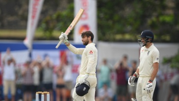 Ben Foakes brings up his maiden Test ton