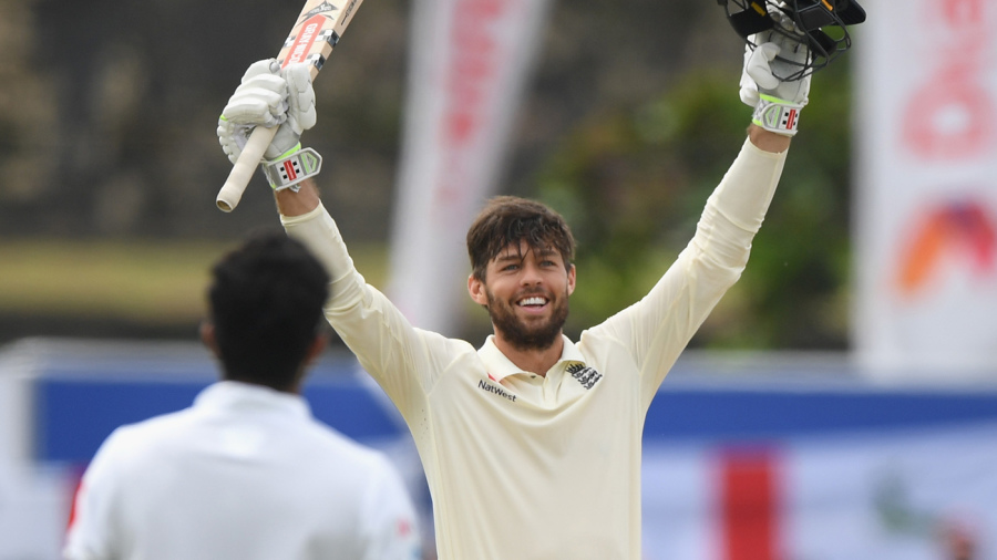 Ben Foakes celebrates his maiden Test hundred