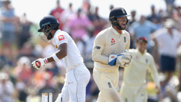 Ben Foakes completed the stumping of Dinesh Chandimal