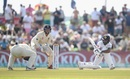 Niroshan Dickwella's sweep pings Rory Burns on the base of his neck, Sri Lanka v England, 1st Test, Galle, 2nd day, November 7, 2018