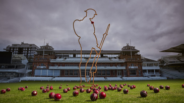 A Tommy silhouette on display at Lord's to mark the ECB's Cricket Remembers campaign