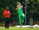 Gaby Lewis runs in to bowl, Ireland v New Zealand, 1st ODI, Dublin, June 8, 2018