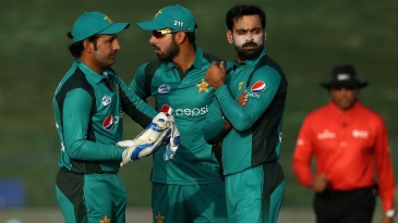 Mohammad Hafeez's action was in focus