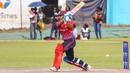 Chetan Suryawanshi drives down the ground, Singapore v USA, ICC World Cricket League Division Three, Kampala, May 26, 2017
