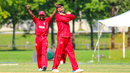 Saif Ahmad signs an 'X' to cross another wicket off his bowling, Denmark v Malaysia, ICC World Cricket League Division Four, Bangi, May 2, 2018