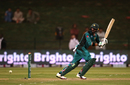 Imad Wasim works the ball into the leg side, Pakistan v New Zealand, 1st ODI, Abu Dhabi, November 7, 2018