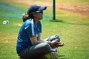 Veda Krishnamurthy at a training session at the Reliance International Stadium, Baroda, March 14, 2018