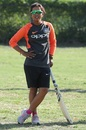 Ekta Bisht at a Cricket for Good event, West Demerara Secondary School, Guyana, November 8, 2018