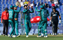 Mohammad Hafeez celebrates a wicket, Pakistan v New Zealand, 2nd ODI, Abu Dhabi, November 9, 2018