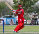 Oman captain Zeeshan Maqsood pulls through midwicket for a boundary to clinch victory, Oman v Kenya, ICC World Cricket League Division Three, Al Amerat, November 9, 2018