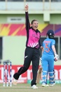 Lea Tahuhu appeals, India v New Zealand, Women's World T20, Guyana, November 9, 2018
