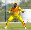 Ronak Patel was kept busy at slip, Denmark v Uganda, ICC World Cricket League Division Three, Al Amerat, November 9, 2018