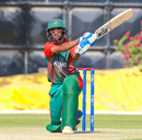 Sachin Bhudia slogs a six over long-on, Oman v Kenya, ICC World Cricket League Division Three, Al Amerat, November 9, 2018