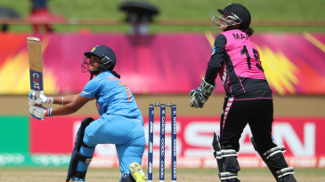 Harmanpreet Kaur eyes the leg side