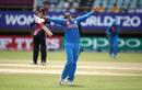 Harmanpreet Kaur celebrates taking a catch, India v New Zealand, Women's World T20, Group B, Guyana, November 9, 2018