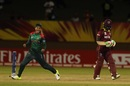 Jahanara Alam celebrates a wicket, West Indies v Bangladesh, Women's World T20, Group A, Guyana, November 9, 2018