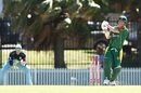David Warner pulls as Steve Smith watches from the slips, Sutherland v Randwick-Petersham, Coogee Oval, Sydney, November 10, 2018