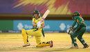 Meg Lanning plays a sweep, Australia v Pakistan, Women's World T20, Group B, Guyana, November 9, 2018