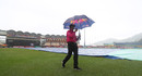 The covers were on as the players and officials arrived, England v Sri Lanka, Women's World T20, St Lucia, November 10, 2018