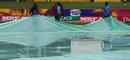Heavy rainfall meant the groundstaff had a job on their hands, England v Sri Lanka, Women's World T20, St Lucia, November 10, 2018
