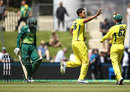 Mitchell Starc removed Quinton de Kock in his second over, Australia v South Africa, 3rd ODI, Hobart, November 11, 2018