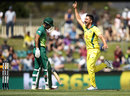 Marcus Stoinis had Reeza Hendricks caught down the leg side, Australia v South Africa, 3rd ODI, Hobart, November 11, 2018