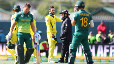 Glenn Maxwell wasn't happy after a review saved David Miller