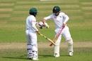 Mushfiqur Rahim and Mominul Haque show some glove-love, Bangladesh v Zimbabwe, 2nd Test, Dhaka, 1st day, November 11, 2018