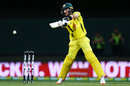Glenn Maxwell cuts the ball on the off side, Australia v South Africa, 3rd ODI, Hobart, November 11, 2018