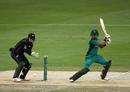Babar Azam plays a square cut, Pakistan v New Zealand, 3rd ODI, Dubai, November 11, 2018