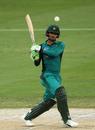 Fakhar Zaman swivels into a pull, Pakistan v New Zealand, 3rd ODI, Dubai, November 11, 2018