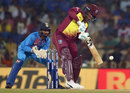 Shimron Hetmyer looks to punch off the back foot, India v West Indies, 3rd T20I, Chennai, November 11, 2018