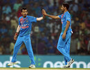 Yuzvendra Chahal celebrates his first wicket, India v West Indies, 3rd T20I, Chennai, November 11, 2018