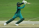 Shoaib Malik leans into a cover drive, Pakistan v New Zealand, 3rd ODI, Dubai, November 11, 2018