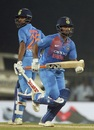 Shikhar Dhawan and Rishabh Pant run between the wickets, India v West Indies, 3rd T20I, Chennai, November 11, 2018