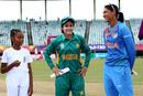 Captains Javeria Khan and Harmanpreet Kaur at the toss, India v Pakistan, Women's World T20 2018, Group B, Guyana, November 11, 2018