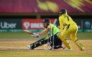 Kim Garth is bowled around her legs as she misses the scoop shot, Australia v Ireland, Women's World T20, Guyana, Group B, November 11, 2018