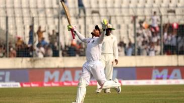 Mushfiqur Rahim celebrates his double-hundred