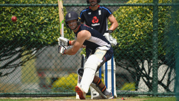 Jos Buttler bats during training in Pallekele