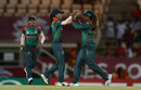 Salma Khatun struck with the first ball of the reply, England v Bangladesh, Women's World T20, Group A, St Lucia, November 12, 2018