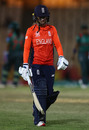 Danielle Wyatt walks off after making a golden duck, England v Bangladesh, Women's World T20, Group A, St Lucia, November 12, 2018