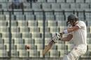 PJ Moor slaps through the off side, Bangladesh v Zimbabwe, 2nd Test, Mirpur, 3rd day, November 13, 2018