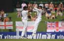 Suranga Lakmal celebrates an early breakthrough, Sri Lanka v England, 2nd Test, Pallekele, 1st day, November 14, 2018