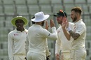 Kyle Jarvis had fun with the new ball again, Bangladesh v Zimbabwe, 2nd Test, Mirpur, 4th day, November 14, 2018