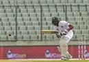 Mahmudullah defends the ball, Bangladesh v Zimbabwe, 2nd Test, Mirpur, 4th day, November 14, 2018