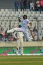 Mahmudullah celebrates his hundred, Bangladesh v Zimbabwe, 2nd Test, Mirpur, 4th day, November 14, 2018